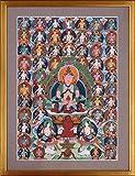 【半値SALE】チベット仏画・カルマ・ラマ『阿弥陀如来・11874』真筆 ・【その他の絵画】【B528】