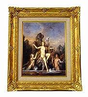 世界の名画 モロー海からあがるヴィーナス ジクレーキャンバス複製画F3号豪華額装品