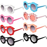 8 Pieces Kids Sunglasses, Round Flower Shaped Sunglasses for Boys and Girls, Party Accessories, Fun Gifts,Party Toys Hallowee