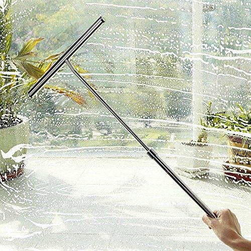 [해외]TeFuAnAn 물 와이퍼 스쿠이지 스테인레스 스틸 유리 청소 전문 도구 청소 용품 자동차 용 유리창 완전 개폐식 핸들 장마 결로 물방울 잡기 등/TeFuAnAn draining wiper glass squeegee stainless steel glass cleaning professional tool cleaning t...