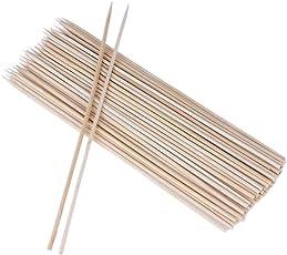 SIKIWIND BBQ用竹串 丸型 バーベキュー タッグ 100本入 (30cm)