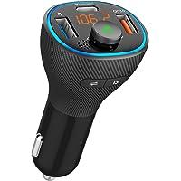 【2021業界新設計初売り】 FMトランスミッター Bluetooth5.0 高音質 QC3.0急速充電 PD18W対応…