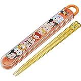 スケーター 子供用 箸 箸箱セット ツムツム パッチワーク ディズニー 日本製 16.5cm ABS2AM