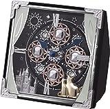 リズム時計 置き時計 アナログ 小さい からくり スモールワールドコスモ 30曲 メロディ ブルー (紺色) Small World 4RH784RH11