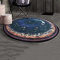 XIA カーペットポリエステルラウンドクリエイティブ6色使用可能な研究 (パターン : E, サイズ さいず : 150cm)