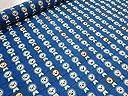 ナイロンオックス ライオンボーダー ブルー |生地|布地|安い 服地 手づくり