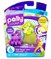 Polly Pocket Collect a Cutant Series 1-1/2 Inch Mini Cutant Figure - Fish Saver and Octosub