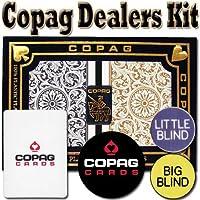 Copag Playing Cards Dealer Kit - 1546 Black/Gold Poker Jumbo