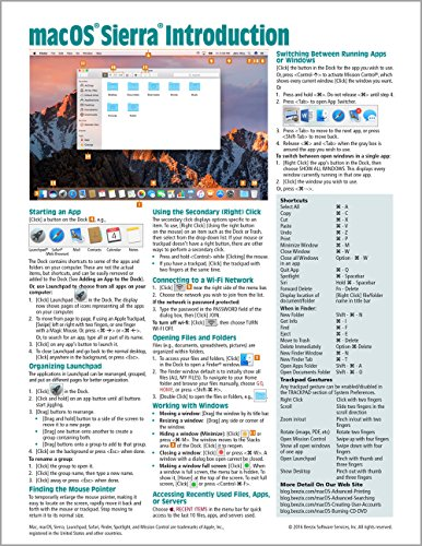 Download macOS Sierra Introduction Quick Reference Guide (Cheat Sheet of Instructions, Tips & Shortcuts - Laminated Guide) 1944684247