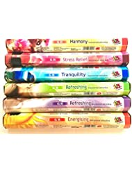 GR Incense Sticks Best Sellers 6ボックスX 20スティック、Variety Pack ( # 3 )