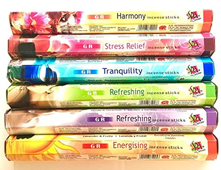 海藻接地GR Incense Sticks Best Sellers 6ボックスX 20スティック、Variety Pack ( # 3 )