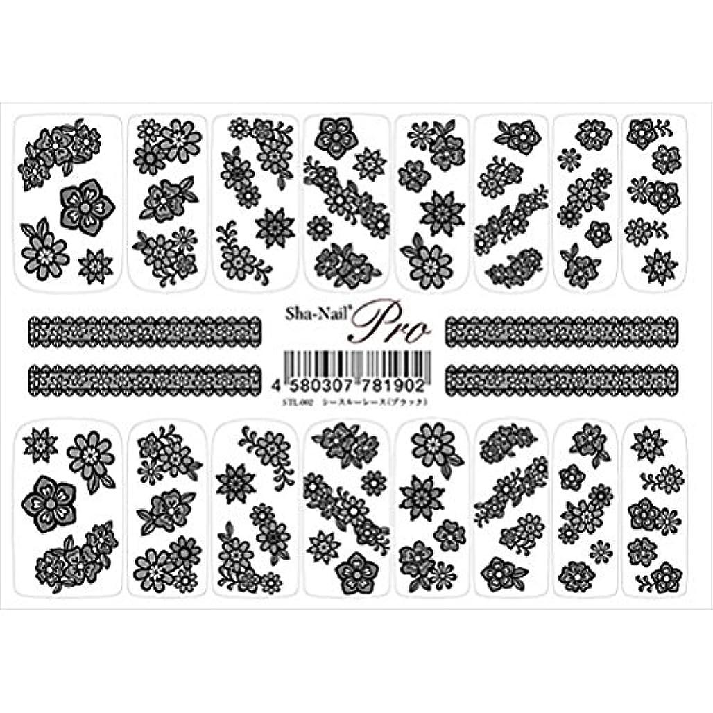 相関するスクラブトピック写ネイルプロ シースルーレース ブラック
