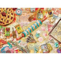 Bits and Pieces - 300 Piece Jigsaw Puzzle for Adults - Vintage Baker - 300 pc Baking Instruments Jigsaw by Artist Aimee Stewart