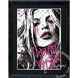 アートショップ フォームス ブランドオマージュアート/スターデザイン「ケイト・モス×ルイ・ヴィトン/Kate Cry」A4ポスター