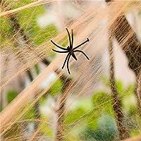 TAKIの部屋 クモの巣 ハロイン道具 パーティー イベント 装飾【クモのおもちゃ2個を無料で提供する】全2色 (オレンジ)