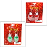 Christmas Novelty Light up Bulb Earrings - colors may vary
