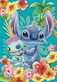 108ピース ジグソーパズル Stitch(スティッチ)-tropical blue-【パズルデコレーション】(18.2x25.7cm)