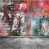 カスタマイズサイズ現代壁画背景ヒップホップ落書きヨーロッパスタイルアート壁装材の装飾リビングルーム壁画壁紙-150X120CM
