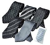 ビジネスマンサポート 洗えるネクタイ 5本セット 洗濯ネット付き h-a1a3b1b2b3