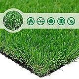 Petgrow リアル 人工芝 ロール 芝丈35mm 幅1m×長さ1.5m 複数サイズ選択可 【高耐久 高密度 3層基布 4色芝混合】 春緑色 春のグリーン 庭 マット カーペット シート