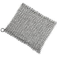 ゴシレ Gosear 8x6 インチステンレス鋳鉄クリーナーメイルスクラバーキッチンクリーニングツールクリーンキャスト鉄パングリル鉄板調理器具広場