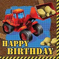 Under Construction Happy Birthday Lunch Napkins 192ct
