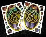 2枚セット インテルナツィオナーレ・ミラノ 特大ロゴ ハガキサイズ ステッカー Internazionaleサッカー セリエA シール