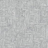 Symmetry 310238 幾何学正方形壁紙 グレー/シルバー ラッシュ