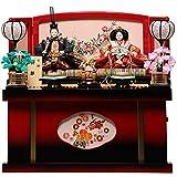 【雛人形収納飾】【親王飾】京三五親王飾:陽葵雛:伏見屋監修【雛人形】