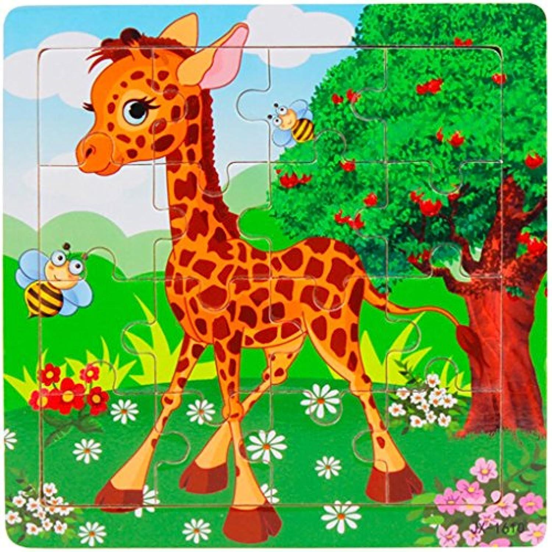 celendiマルチカラーパターン木製パズル子供用トレーニングおもちゃ教育玩具の学習と開発 AB-12