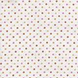 【綿二重ガーゼ・ダブルガーゼ プリント】カラフル・ドット(2) 2色あります 1m単位で切り売りいたします (ピンク系)