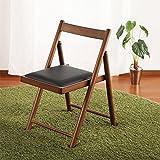 天然木製 折りたたみ式チェア 椅子 ダイニングチェア コンパクト 予備椅子 シンプルチェアー 食堂椅子 木製