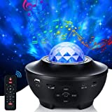 Star Projector Galaxy Night Light for Kids, Ocean Wave Starry Projector with Bluetooth Music Speaker, LED Nebula Cloud for fo