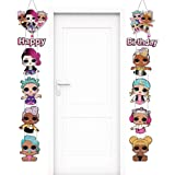 LOL Porch Sign Party Supplies Party Door Wall Hanging Sign Banner Decorations LOL Happy Birthday Banner CardBorad Cutout Indo