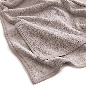 mofua natural タオルケット 杢 調 コットン 100% シングル グレー 55560113