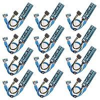 PCI E Riser 1x-16x Powered Riser Adapter Card -イーサリアム鉱業ETH (12個(6pin))