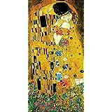 Gustav Klimt The Kiss Lovers Le Baiser Romance Decorative Fine Symbolist Art Poster Print, Multicolor, 12 by 24 Rolled