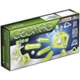 Geomag Glow Kit – 22 Piece Glow in the Dark Magnetic Construction Set