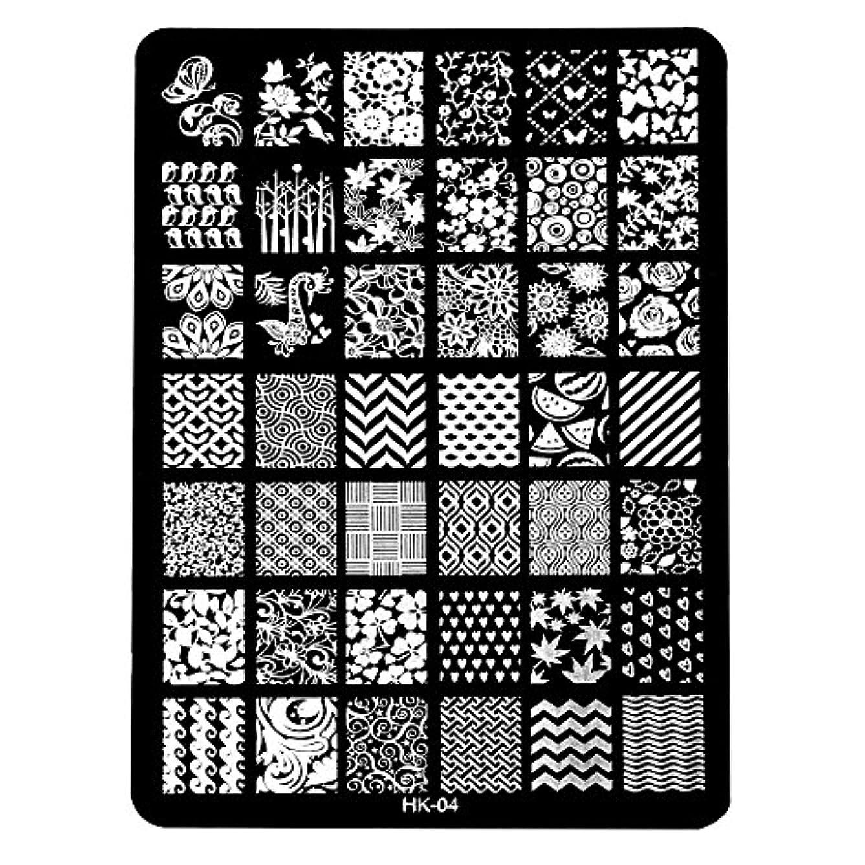 シティ宿泊ファントム[ルテンズ] スタンピングプレートセット 花柄 ネイルプレート ネイルアートツール ネイルプレート ネイルスタンパー ネイルスタンプ スタンプネイル ネイルデザイン用品