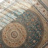 サヤンサヤン ORIENTAL STYLE(オリエンタルスタイル)Ⅰ ウィルトン織り ラグマット アクアブルー 240x240cm