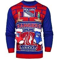 NHL New York Rangers Unisex NHL Ugly 3dセーター、ミディアム