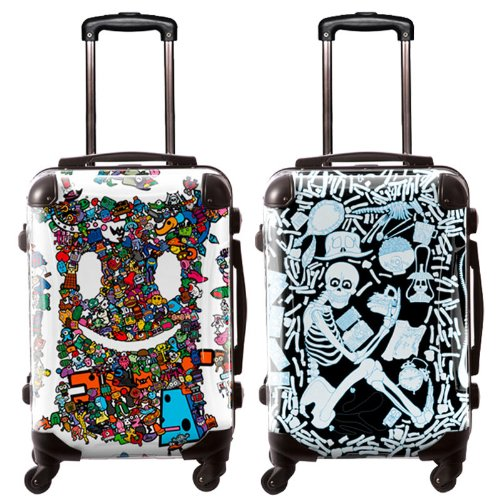 TAKU/ガチャゴチャ/アートスーツケース/個性的/ユニーク/フレーム4輪/TSAロック/機内持込可能/キャラート/お化け オバケ 妖怪 おもちゃ/CRA01-J10501-2