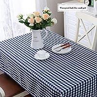 テーブルクロス シンプルな牧歌的な防水の格子縞のテーブルクロス長方形のコーヒーテーブルラウンドテーブルクロス (Color : J, Size : 140x140cm)