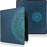 WALNEW Protective Case for Amazon Kindle Oasis(9th Generation, 2017 Release) Auto Wake Sleep Smart Cover with Magnetic Closure for 7 Inch Kindle Oasis E-reader, Blue Flowers