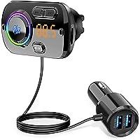 【2021最新】FMトランスミッター シガーソケット USB 車載充電器 Bluetooth 5.0+EDR 2 USB…