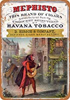 "7"" x 10""メタルサイン–1897Mephisto Havana Cigars–Vintage Look Reproduction"