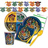 Paper Tableware TodayTM Harry Potter Party Supplies for 16 Guests - Plates, Napkins, Cups, Cutlery