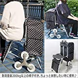 ショッピングカート 椅子付き 3輪構造キャスター 画像