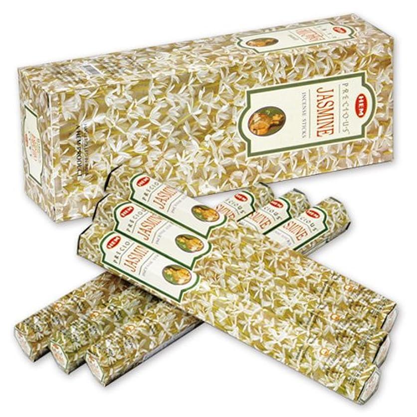 屈辱する貧しいルーチンHEM (ヘム) インセンス スティック へキサパック ジャスミン 6角(20本入)×6箱 [並行輸入品]