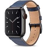 BRG コンパチブル Apple Watch バンド 本革 ビジネススタイル コンパチブル アップルウォッチバンド コンパチブル Apple Watch 6/5/4/3/2/1/SE(38mm/40mm,ダークブルー/スペースグレー)
